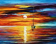 Sunrise Painting Originals - Calmness  by Leonid Afremov