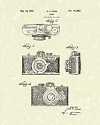 Camera Drawings Prints - Camera 1940 Patent Art Print by Prior Art Design