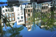 Amsterdam Market Posters - Canal Reflection  Poster by Allen Beatty