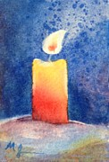 Candle Painting Originals - Candle Glow by Marilyn Jacobson