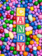 Rainbow Posters - Candy Poster by Edward Fielding