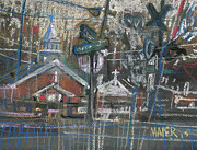 Train Drawings Originals - Canton at Sawyer by Donald Maier