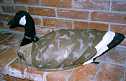 Geese Sculptures - Canvas Decoy by Tim  Joyner