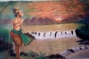 Artist Nandakumar Chinchkar - Canvas Oil painting
