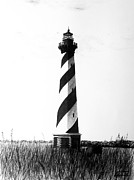 Lighthouse Drawings - Cape Hatteras Lighthouse by William Howard