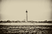 Cape May Posters - Cape May Lighthouse in Sepia Poster by Bill Cannon