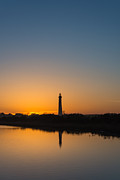 Jerseyshore Photo Originals - Cape May Lighthouse Sunset by Michael Ver Sprill