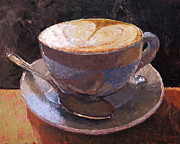 Espresso Paintings - Cappuccino Italiano II by Christopher Clark
