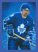 Toronto Maple Leafs Paintings - Captain Clark by Norb Lisinski