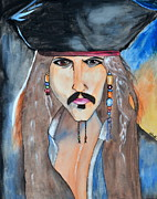 Jack Sparrow Paintings - Captain Jack Sparrow by Shruti Shubham