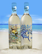 Beach Glass Art - Carey Chen fine art wines by Carey Chen