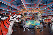 Carnival Acrylic Prints - Carousel at Kennywood Park Pittsburgh Pennsylvania Acrylic Print by Amy Cicconi