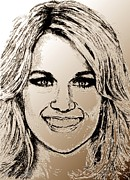 Songwriter Mixed Media Metal Prints - Carrie Underwood in 2011 Metal Print by J McCombie