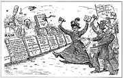 1901 Prints - Carry Nation Cartoon, 1901 Print by Granger