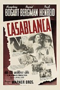American Story Art Posters - Casablanca Poster by Nomad Art And  Design