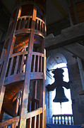 Spiral Staircase Photos - Cathedral bell tower by John  Bartosik