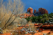 Red Rock Crossing Framed Prints - Cathedral Chill Framed Print by Miles Stites