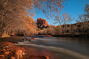 Sedona. Sunset Posters - Cathedral Rock Sedona Arizona Poster by Larry Marshall