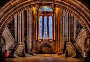 Liverpool England Prints - Cathedral Window Print by Adrian Evans