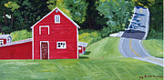 Catskill Framed Prints - Catskill Red Barn Framed Print by Kevin Croitz