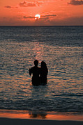 Cayman Prints - Cayman Island Sunset Print by Sheldon Kralstein