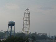 Park Prints - Cedar Point - Top Thrill Dragster - 12123 Print by DC Photographer