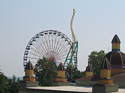 Twister Prints - Cedar Point - Wicked Twister - 12121 Print by DC Photographer