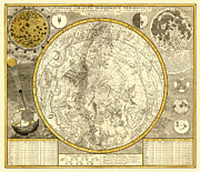 Antique Digital Art Prints - Celestial Map Print by Gary Grayson