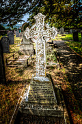 Cemetary Prints - Celtic Cross Print by Adrian Evans