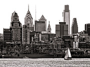 Philly Skyline Art - Center City Philadelphia by Olivier Le Queinec