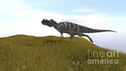 Running Digital Art - Ceratosaurus Running Across A Grassy by Kostyantyn Ivanyshen