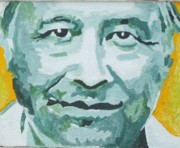 Chicano Painting Prints - Cesar Chavez Print by Randy Segura