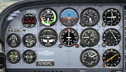 Paul Van Scott Framed Prints - Cessna Control Panel Framed Print by Paul Van Scott