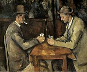 Card Players Prints - Cezanne, Paul 1839-1906. The Card Print by Everett
