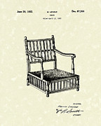 Outdoor Drawings - Chair 1932 Patent Art by Prior Art Design