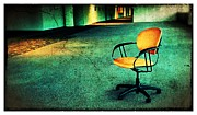 Empty Chairs Digital Art Posters - Chair2 Poster by Perry Webster