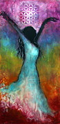 Spiritual Prints - Chakra Dance Print by Tara Catalano