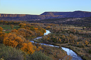 Chama River Prints - Chama River at Sunset Print by Alan Vance Ley