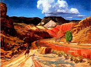 Sloan Paintings - Chama Running Red  by   John Sloan