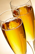 Stemware Photos - Champagne in glasses by Elena Elisseeva