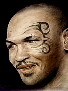 Fighter Pastels - Champion Boxer and Actor Mike Tyson by Jim Fitzpatrick