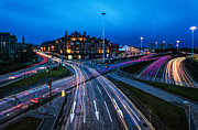 Blue Hour Prints - Charing Cross Glasgow Print by John Farnan