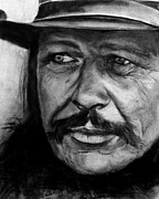 American West Drawings - Charles Bronson  by Michele  Bruce-Carter