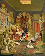 Charles Townley And His Friends Print by Johann Zoffany