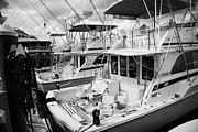 Charters Prints - Charter Fishing Boats In The Old Seaport Of Key West Florida Usa Print by Joe Fox