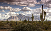 Superstition Mountains Photo Framed Prints - Chasing Clouds  Framed Print by Saija  Lehtonen