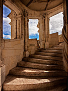 Stone Steps Posters - Chateau de Blois Staircase / Loire Valley Poster by Barry O Carroll