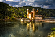 Fantasy Photo Prints - Chateau de la Roche Print by Debra and Dave Vanderlaan