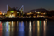 Tennessee Landmark Prints - Chattanooga at Night Print by Melinda Fawver