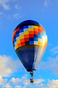 Balloon Aircraft Framed Prints - Checkered Balloon Framed Print by Robert Bales